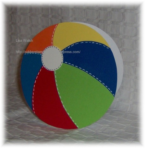 shape card beach ball