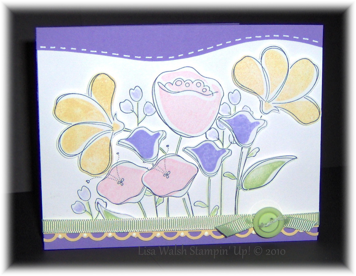 Awash With Flowers Card, A Purse. And It\'s Template! |
